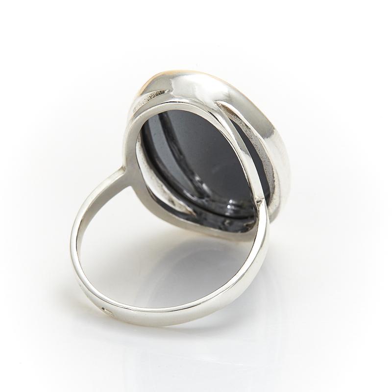 Кольцо гематит Бразилия (серебро 925 пр.) размер 24