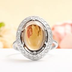 Кольцо раухтопаз Бразилия (серебро 925 пр.) размер 17