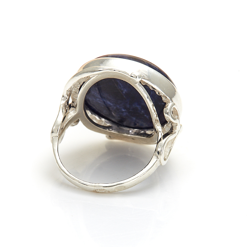 Кольцо содалит Бразилия (серебро 925 пр.) размер 23,5