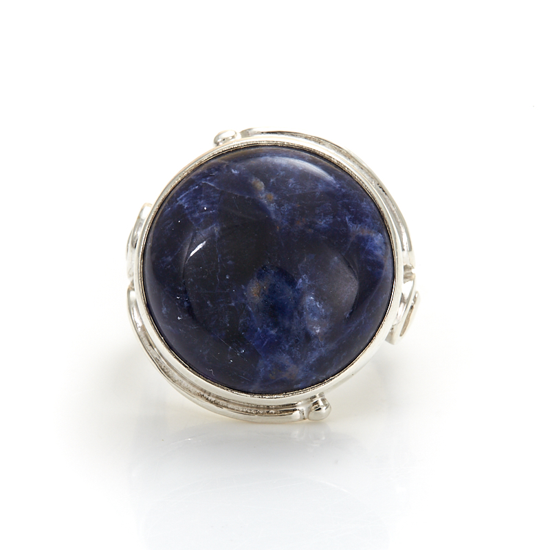 Кольцо содалит Бразилия (серебро 925 пр.) размер 25