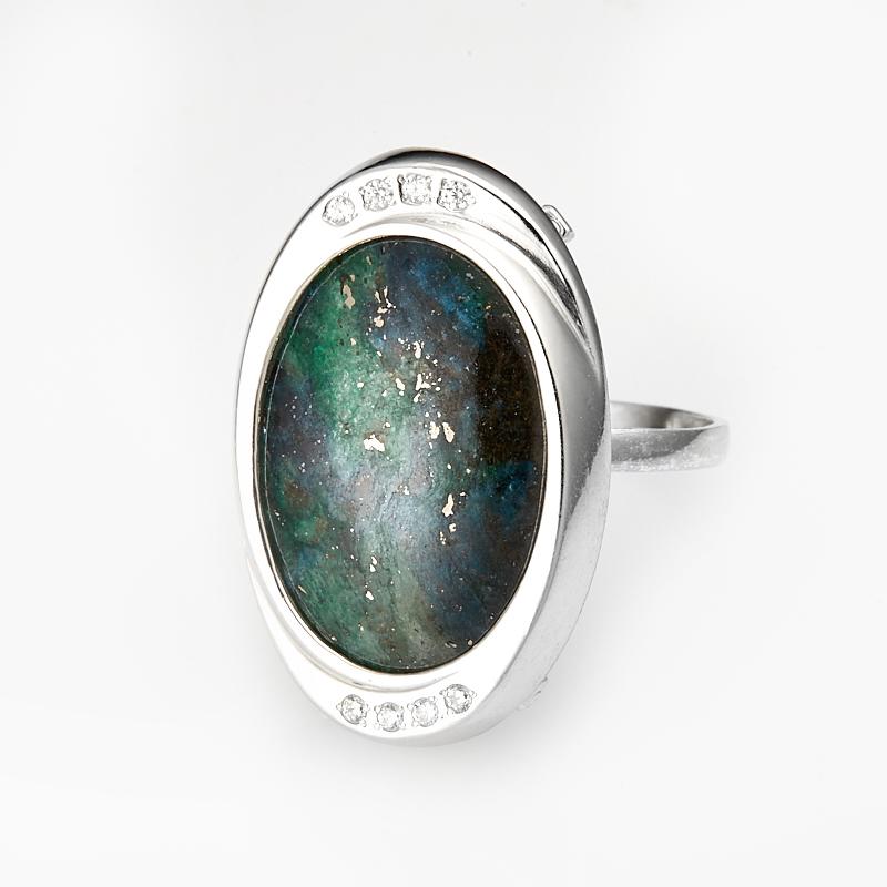 Кольцо фуксит  (серебро 925 пр.) размер 21