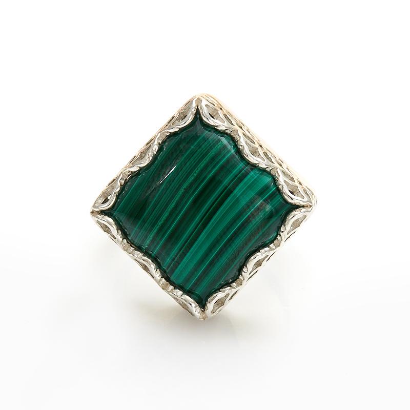 Кольцо малахит  (серебро 925 пр.) размер 18 кольцо авантюрин зеленый серебро 925 пр размер 18