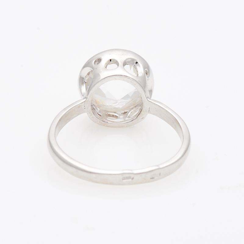 Кольцо горный хрусталь Бразилия огранка (серебро 925 пр.) размер 17,5