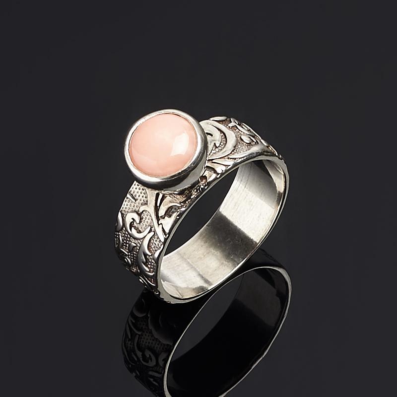 Кольцо коралл розовый (серебро 925 пр.) размер 18 кольца колечки кольцо аскон им коралл