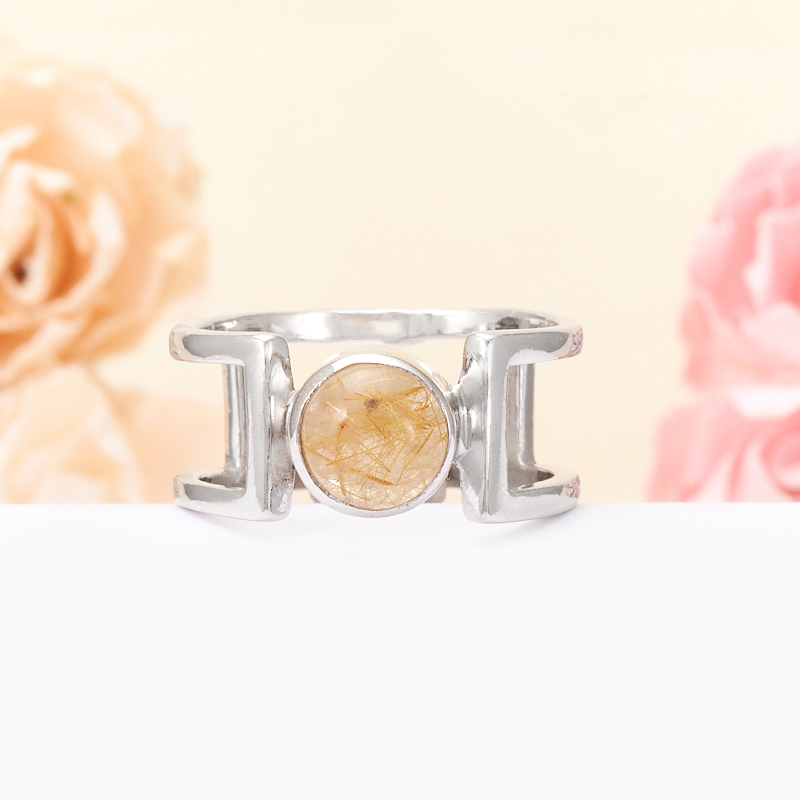 Кольцо рутиловый кварц  (серебро 925 пр.) размер 18 кольцо авантюрин зеленый серебро 925 пр размер 18