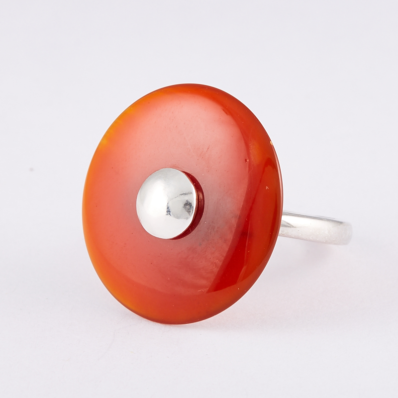 Кольцо сердолик  (серебро 925 пр.) размер 18 кольцо сердолик серебро 925 пр размер 19 5