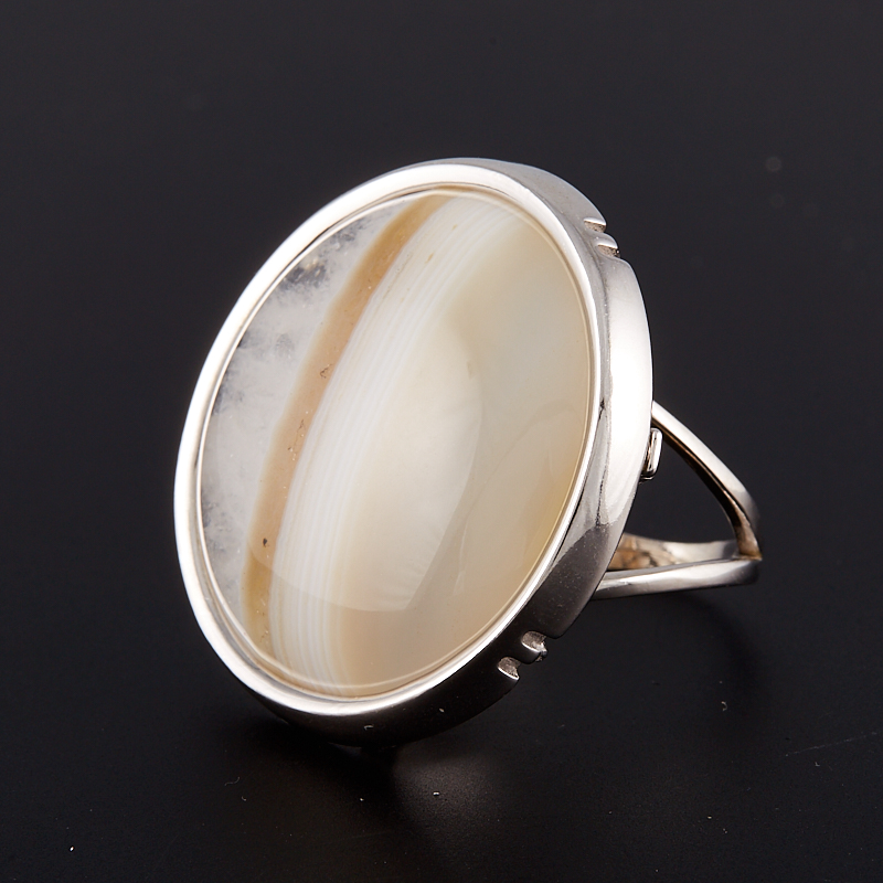 Кольцо агат  (серебро 925 пр.) размер 17