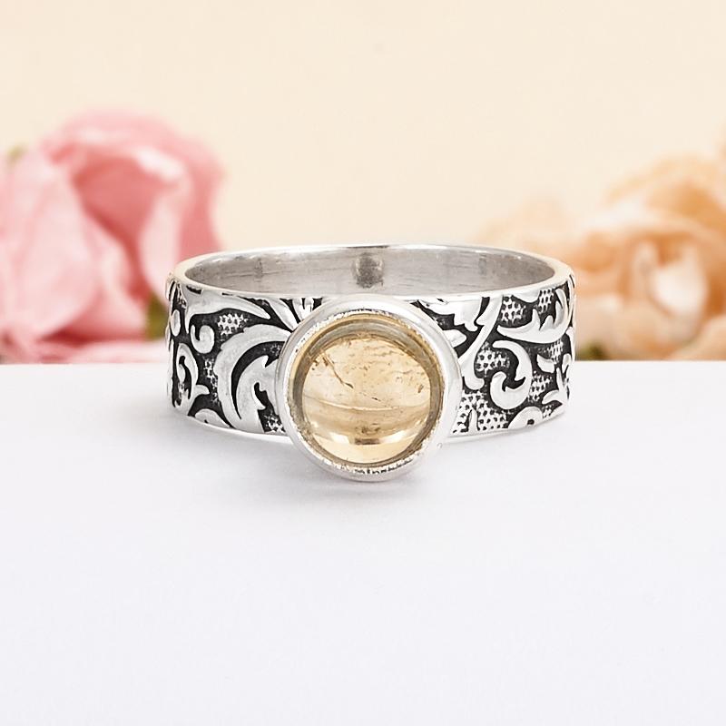 Кольцо цитрин  (серебро 925 пр.) размер 18