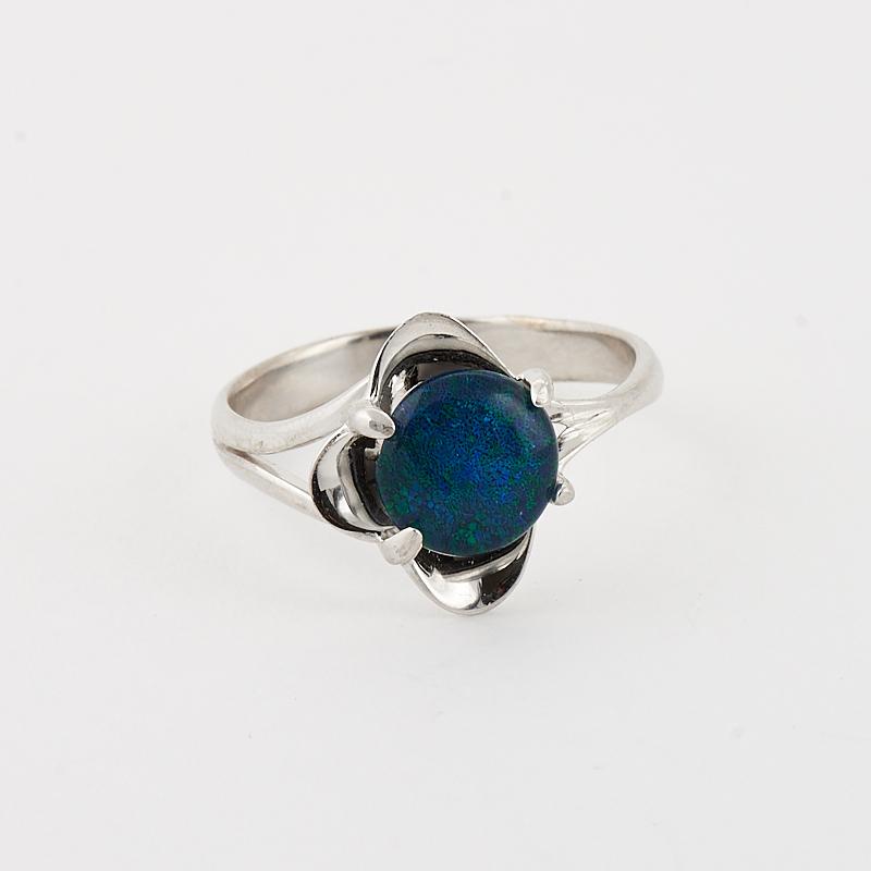 Кольцо опал благородный синий (триплет)  (серебро 925 пр.) размер 17,5