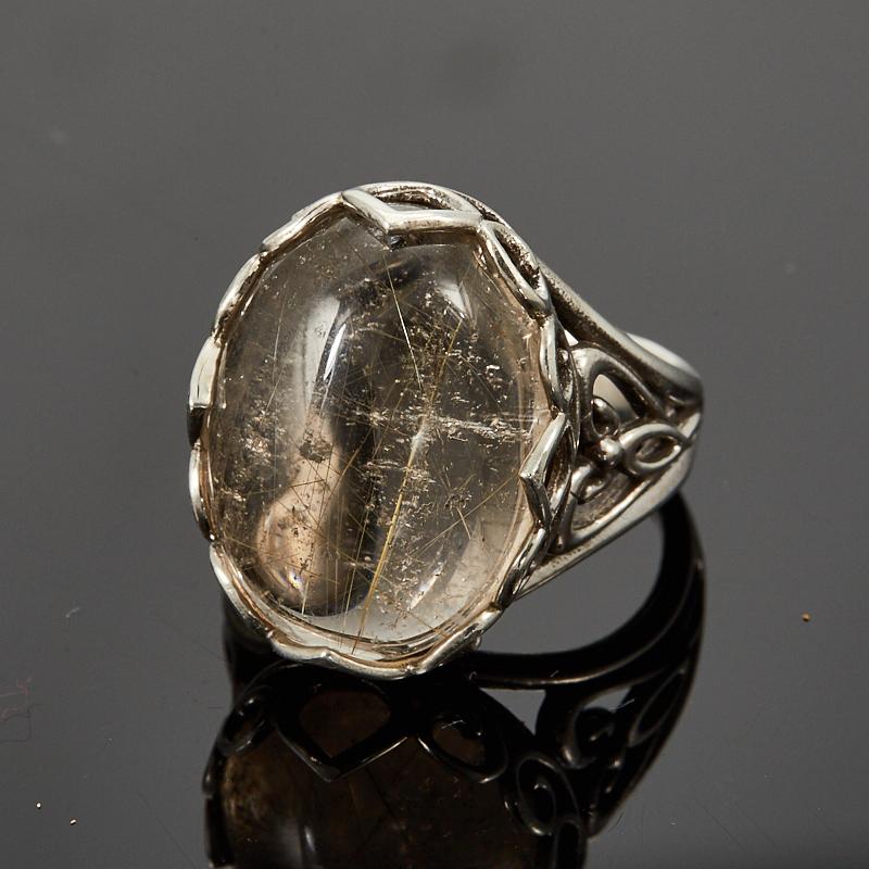 Кольцо рутиловый кварц  (серебро 925 пр.) размер 18
