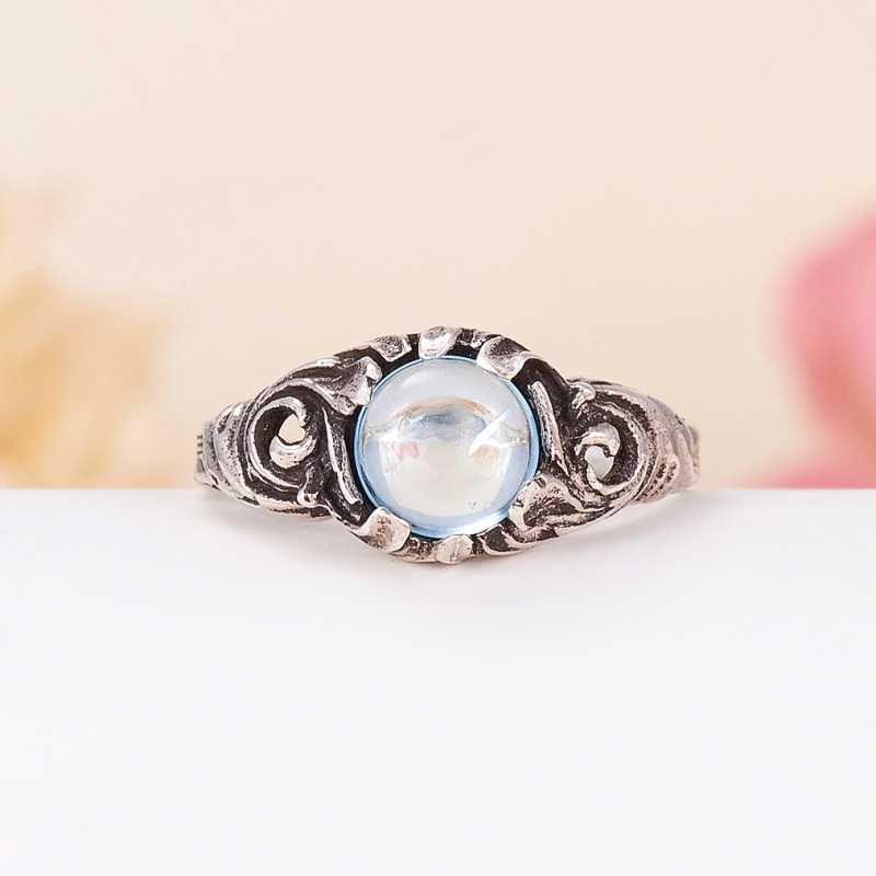 Кольцо топаз голубой  (серебро 925 пр.) размер 18 кольцо авантюрин зеленый серебро 925 пр размер 18