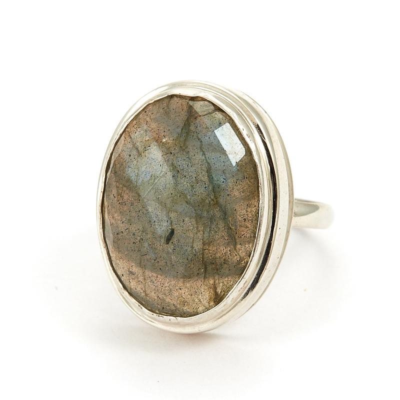 Кольцо лабрадор  огранка (серебро 925 пр.) размер 18