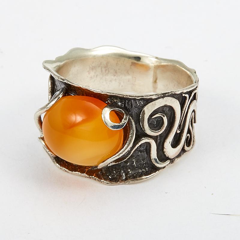 Кольцо сердолик  (серебро 925 пр.) размер 17,5