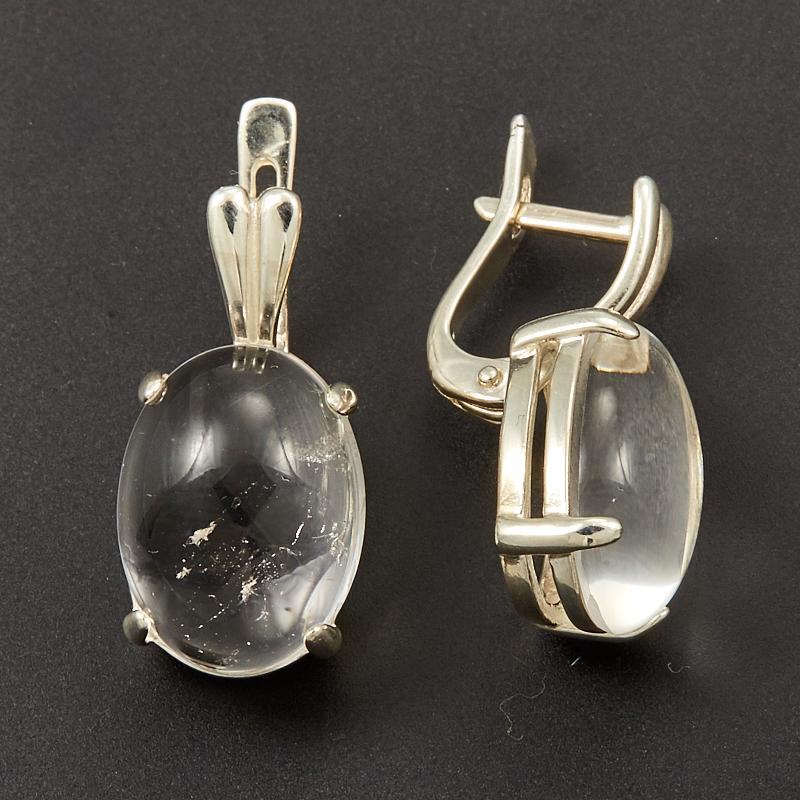 Серьги горный хрусталь  (серебро 925 пр.)