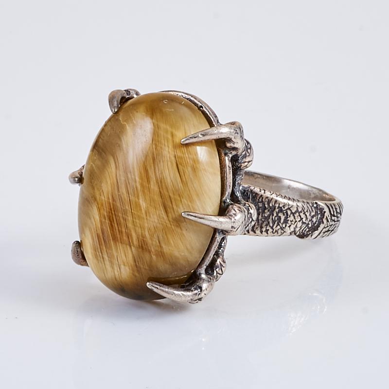 Кольцо тигровый глаз  (серебро 925 пр.) размер 16,5