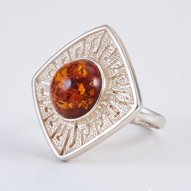 Кольцо янтарь  (серебро 925 пр.) размер 18,5
