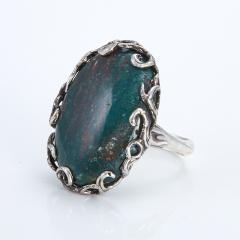 Кольцо яшма пестроцветная Мадагаскар (серебро 925 пр.) размер 18