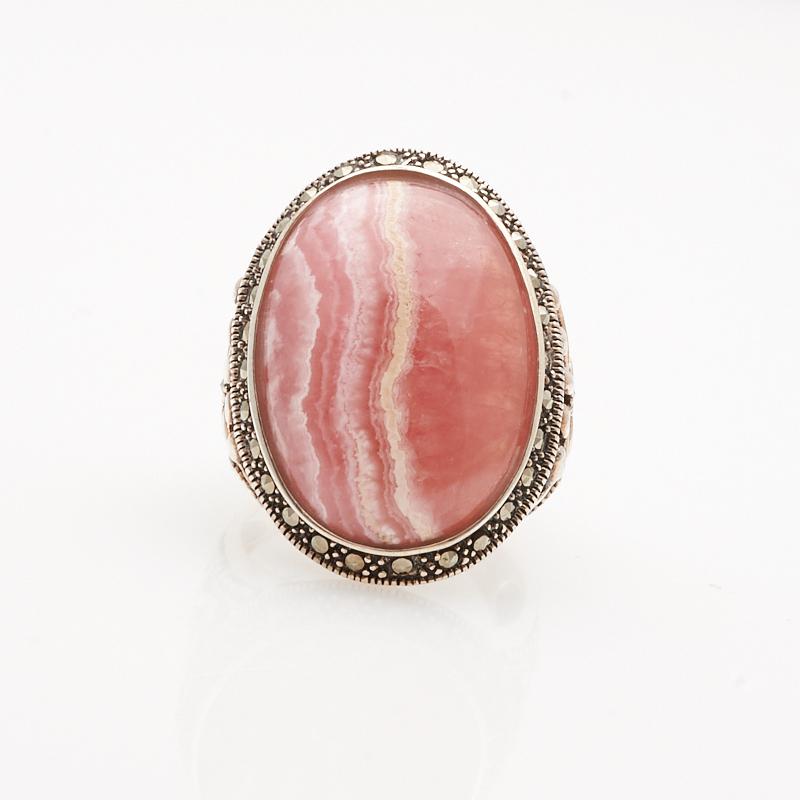 Кольцо родохрозит  (серебро 925 пр.) размер 19