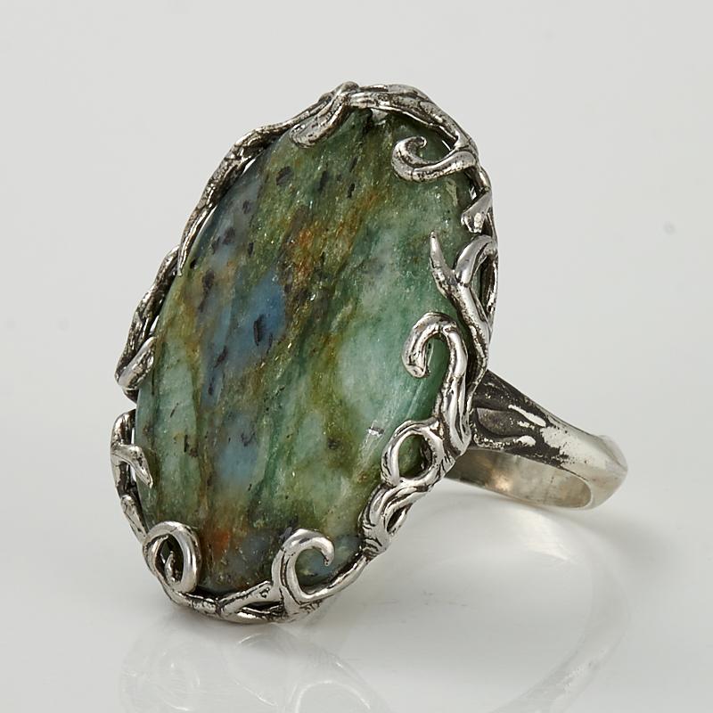 Кольцо фуксит (серебро 925 пр.) размер 17,5