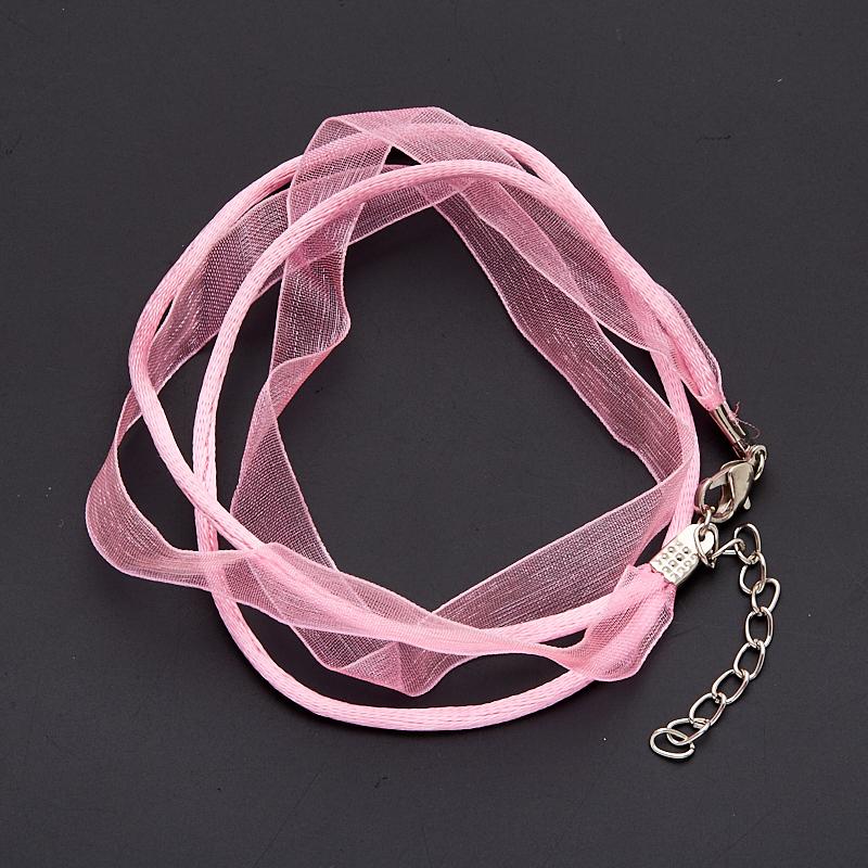 Шнурок розовый 45-50 см (нейлон, органза)