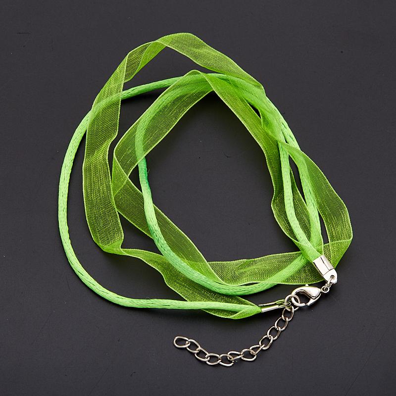 Шнурок зеленый нейлоновый с органзой 45-50 см