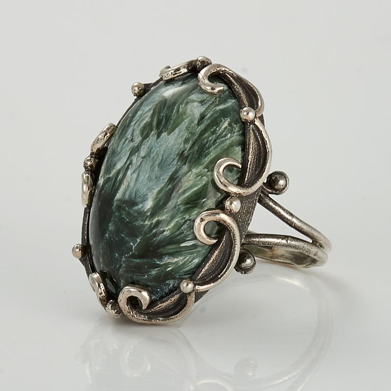 Кольцо клинохлор (серафинит)  (серебро 925 пр.) размер 19 кольцо авантюрин зеленый серебро 925 пр размер 23