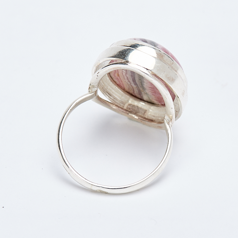 Кольцо родохрозит  (серебро 925 пр.) размер 18