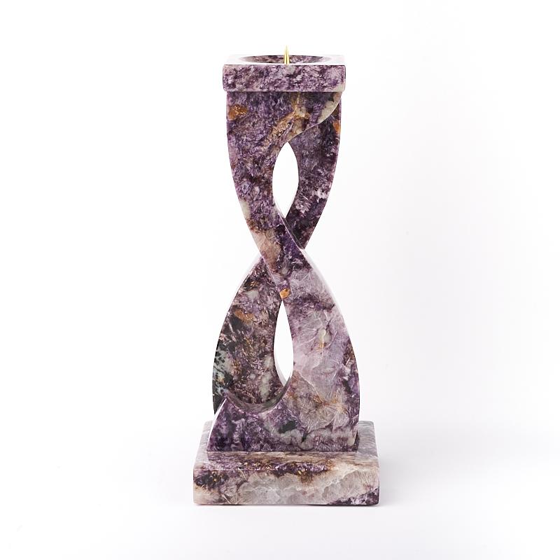 Подсвечник Витой чароит 16,5 см камни полудрагоценные чароит изделия