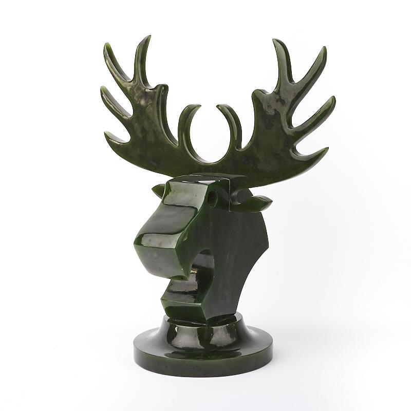 Статуэтка Лось нефрит зеленый  19 см
