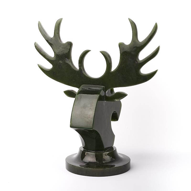 Статуэтка Лось нефрит зеленый Россия 19 см