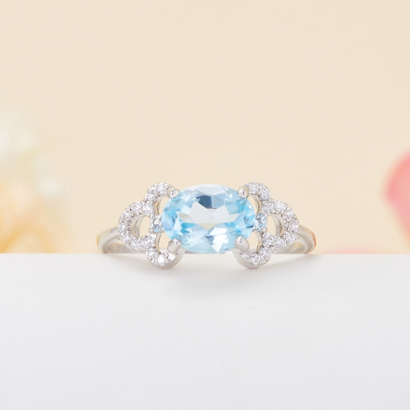 Кольцо топаз голубой огранка (серебро 925 пр.) размер 18 кольцо коюз топаз кольцо т142019037