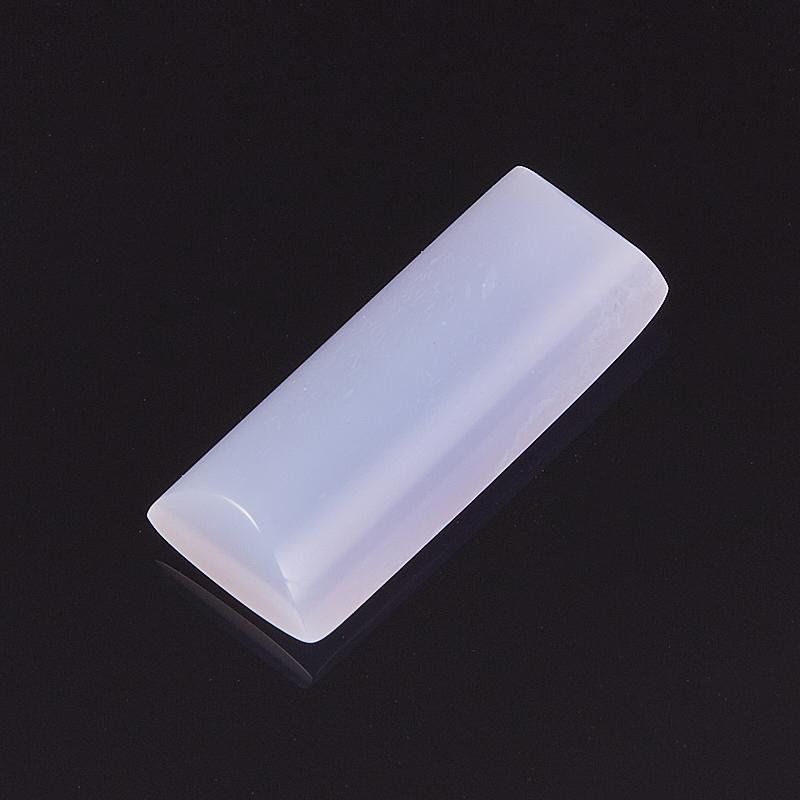 Кабошон агат голубой  7,5*17,5 мм кабошон турмалин 7 9 мм