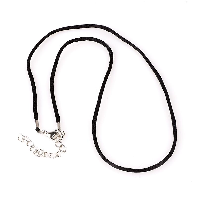 Шнурок черный 44-49 см (нейлон) шнурок белый 45 49 см текстиль