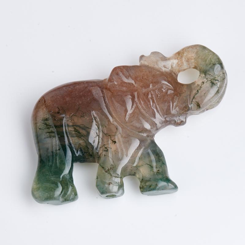 Пуговица слон агат моховой  3,5 см