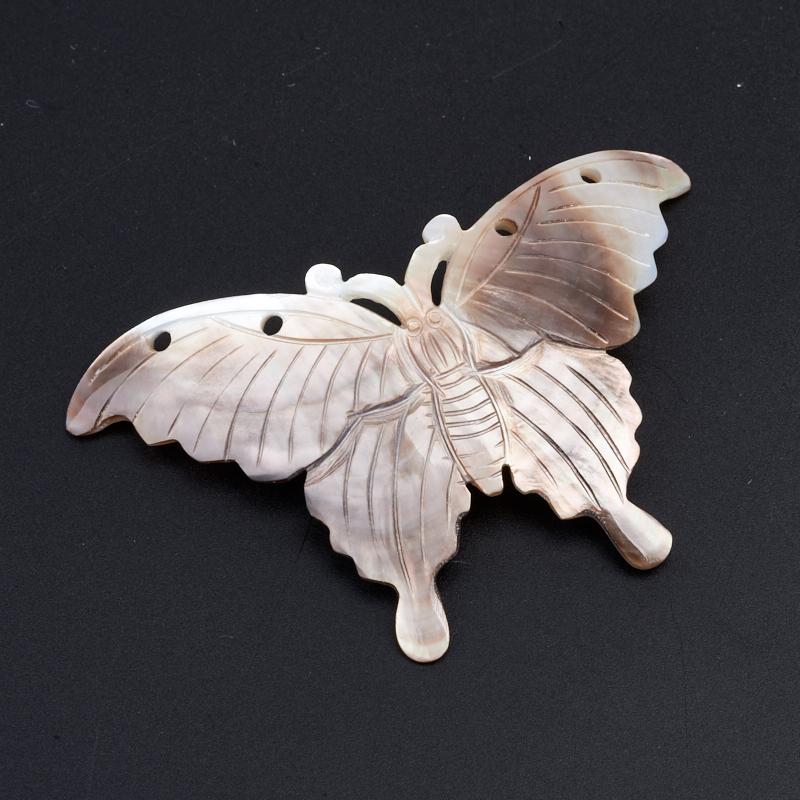 Пуговица бабочка перламутр коричневый 5,5-6 см
