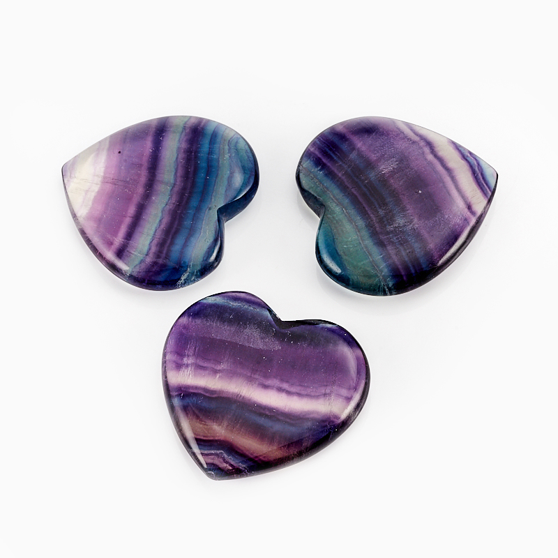 Сердечко флюорит 4 см