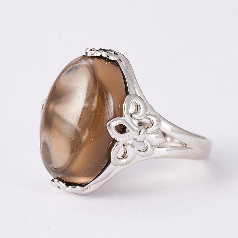 Кольцо раухтопаз  (серебро 925 пр.) размер 18