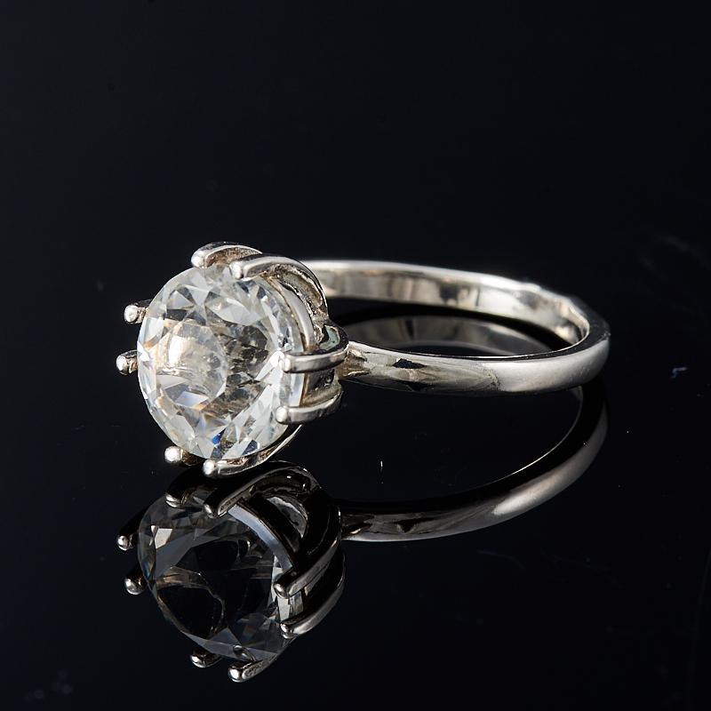 Кольцо горный хрусталь  огранка (серебро 925 пр.) размер 18