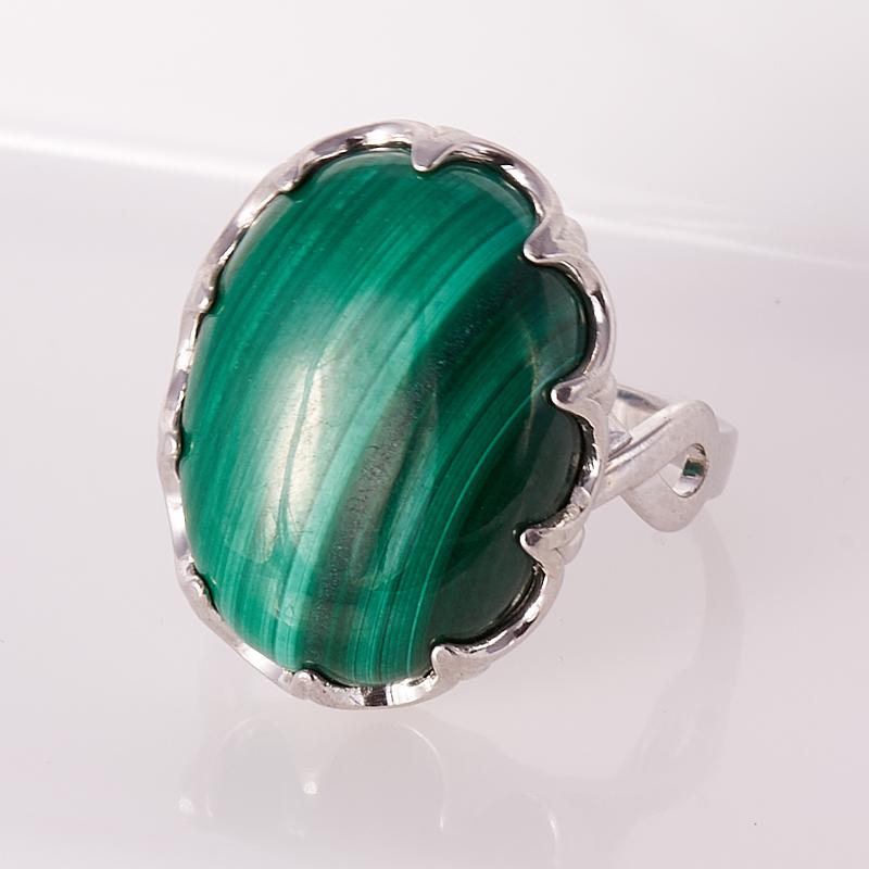 Кольцо малахит  (серебро 925 пр.) размер 19,5