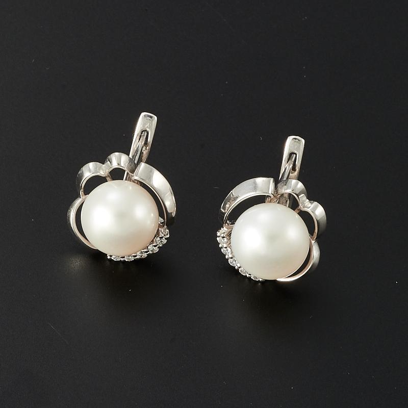 Серьги жемчуг белый  (серебро 925 пр.) серьги револю серьги звездочет жемчуг