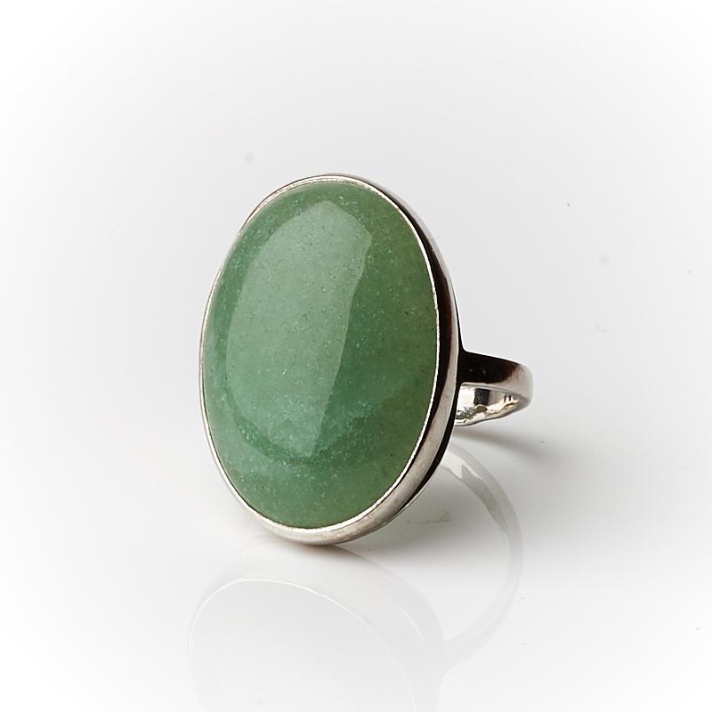 Кольцо авантюрин зеленый (серебро 925 пр.) размер 19 браслет авантюрин зеленый 19 cм