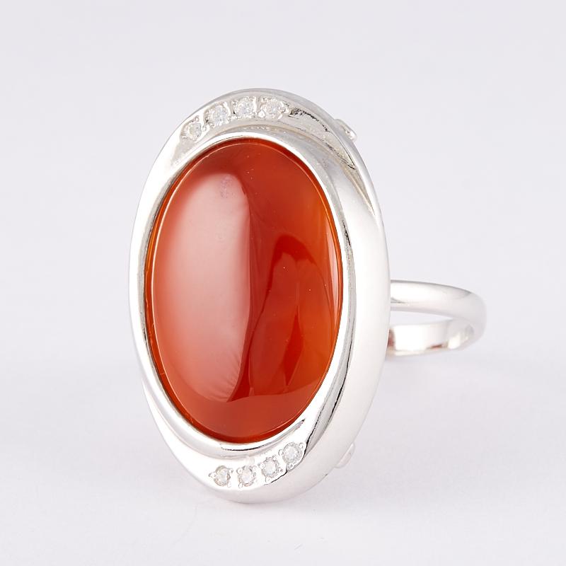 Кольцо сердолик  (серебро 925 пр.) размер 19