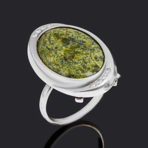Кольцо змеевик Россия (серебро 925 пр.) размер 19,5