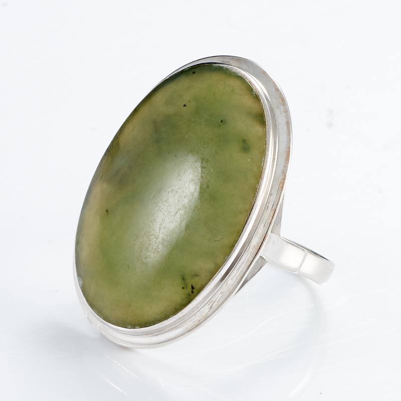 Кольцо нефрит зеленый  (серебро 925 пр.) размер 19,5 кольцо авантюрин зеленый серебро 925 пр размер 19 5