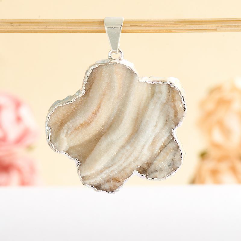 Кулон щетка агат серый  3-4 см