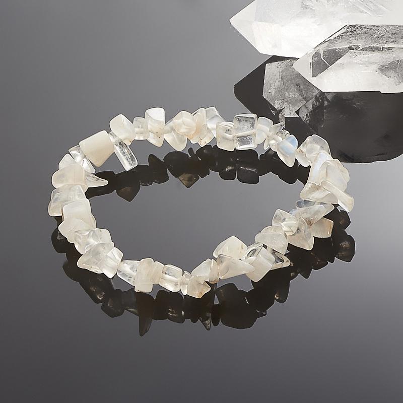 Браслет лунный камень  16 cм браслет лунный камень шамбала 6 мм 16 cм