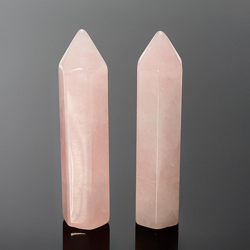 Кристалл розовый кварц 6 см (1 шт) ки юань суд браслеты лисица лисицы розовый кварц розовый кристалл браслеты