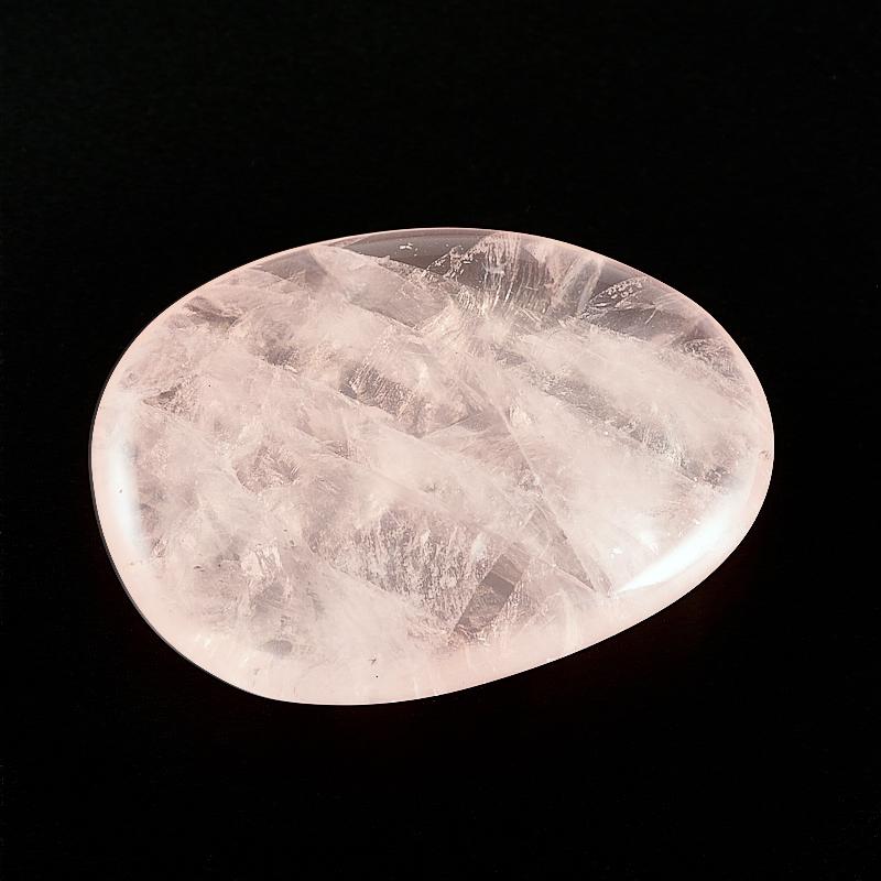 Розовый кварц прозрачный  (3,5-4 см) 1 шт