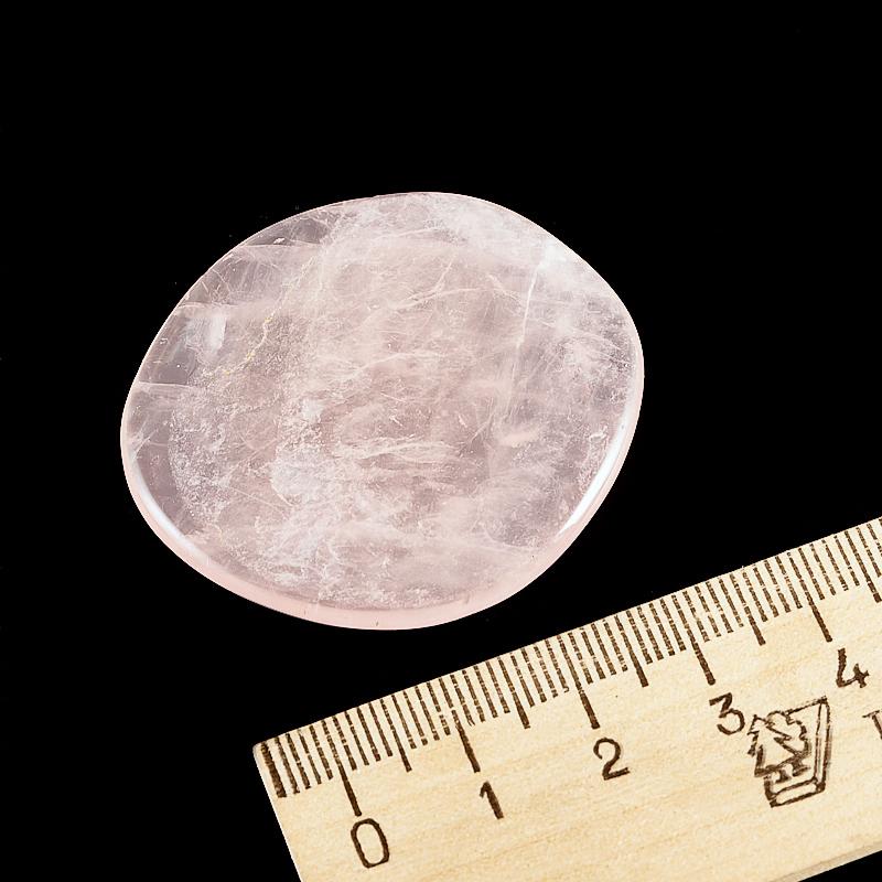 Галтовка розовый кварц прозрачный Намибия (4,5-5 см) 1 шт