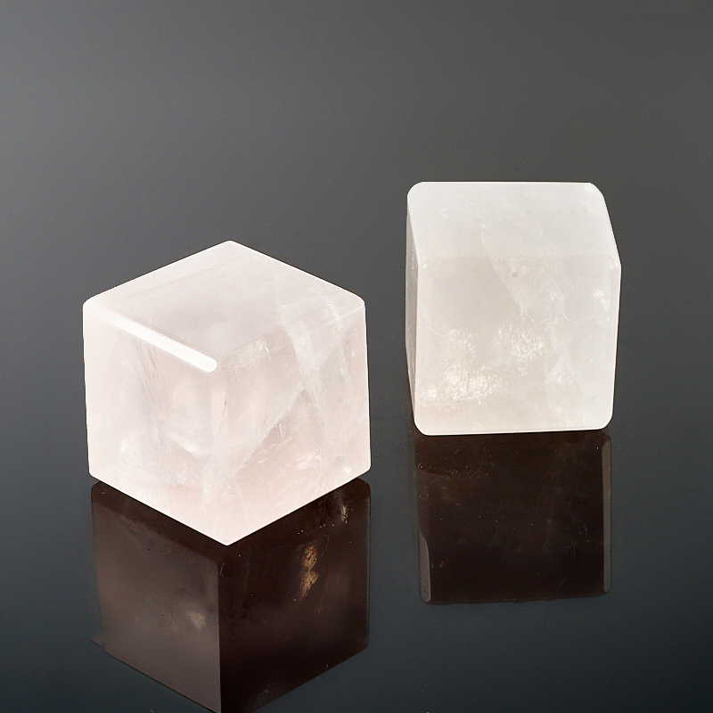 Куб розовый кварц  3 см